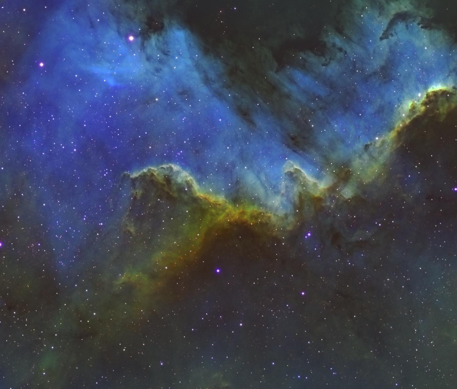 La nébuleuse NGC7000 «le mur»
