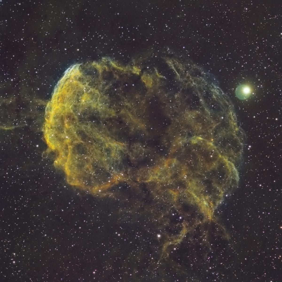 La nébuleuse de la Méduse ou IC443
