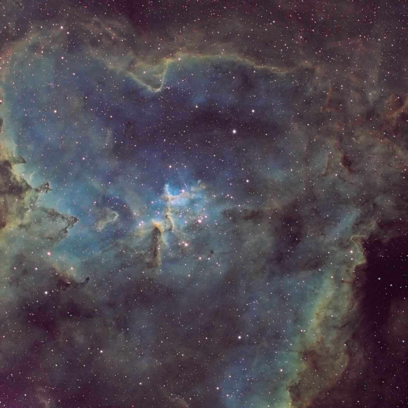 La nébuleuse du coeur (partie centrale) IC1805
