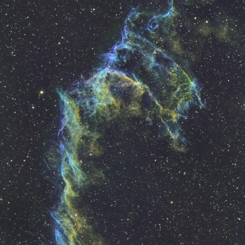 Extrémité de la grande dentelle du cygne IC 1340