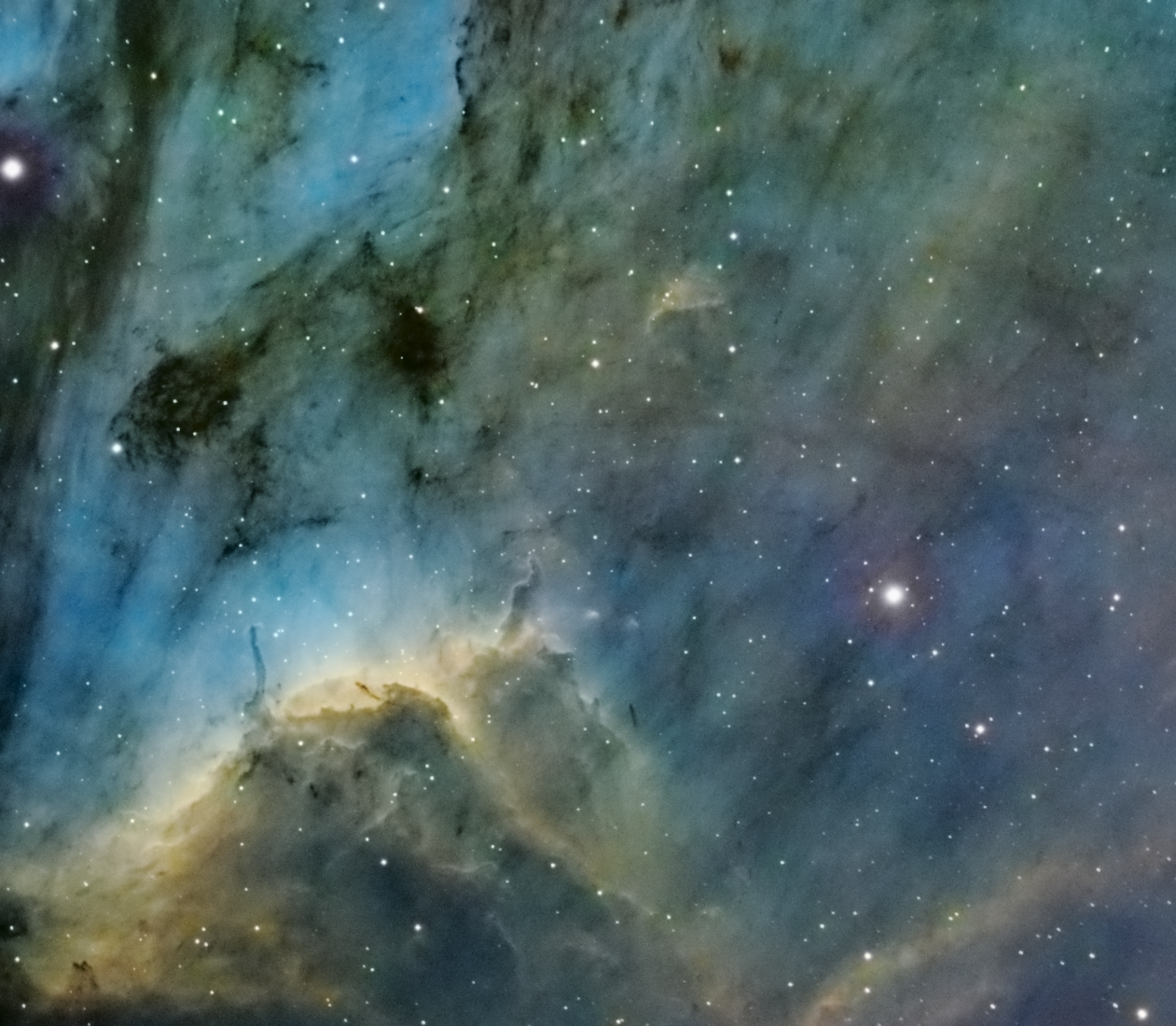 La nébuleuse du pélican IC 5070