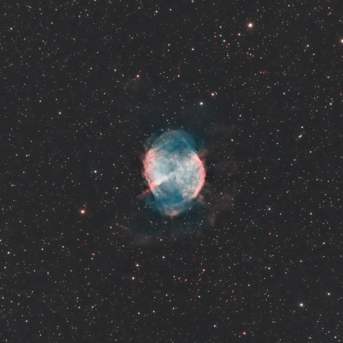 La nébuleuse M27 Dumbbell ou «le trognon de pomme» ou de l'haltère