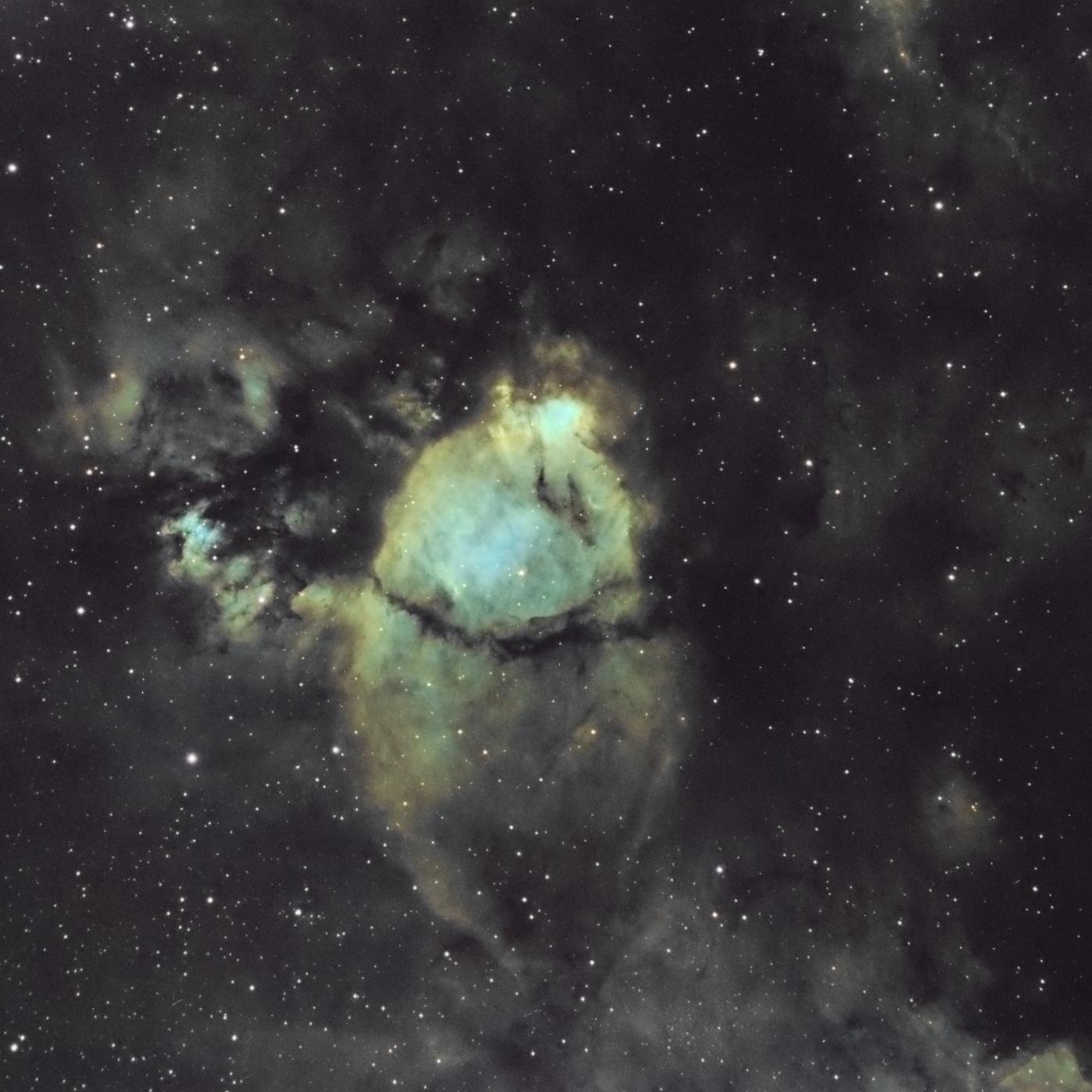 la nébuleuse NGC 896 (partie d'IC1805 la nébuleuse du coeur)