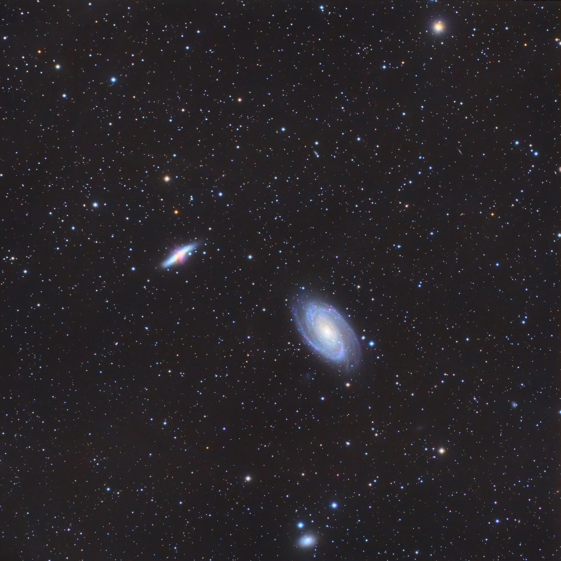 Les galaxies M81 M82