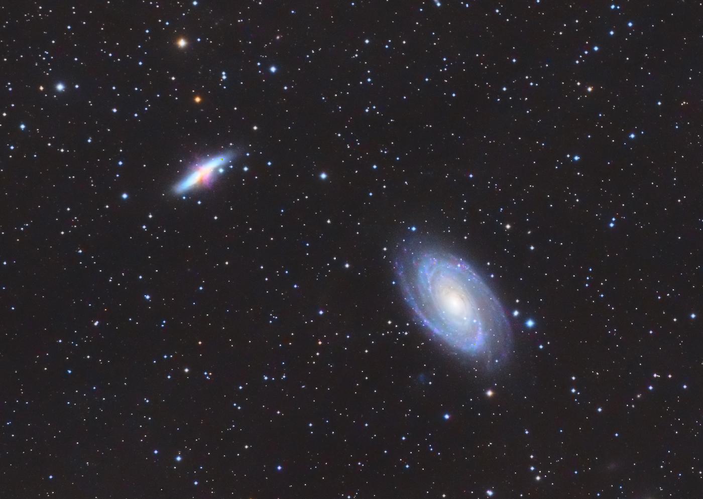 Galaxies M81 M82